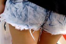 Melhores flagras de novinhas com shortinhos curtos sem calcinha